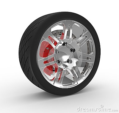 Wheel and brake