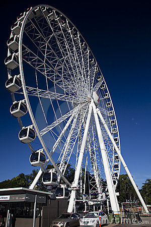 Wheel of Brisbane Vertical Editorial Stock Photo