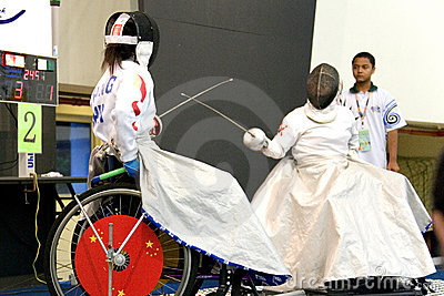 Wheel Chair Fencing Editorial Photography