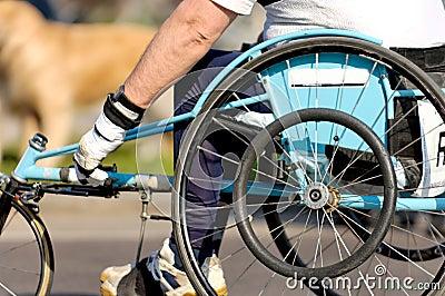 Wheel chair marathon