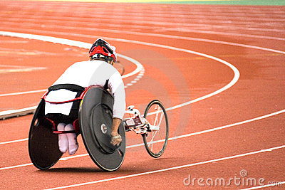 Wheel Chair Race For Disabled Persons Royalty Free Stock Photo - Image: 1647655