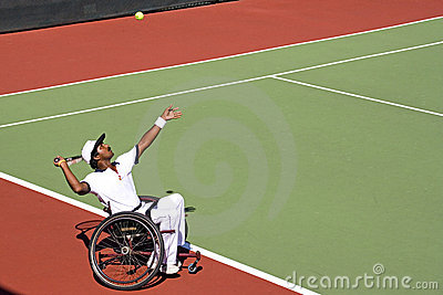 Wheel Chair Tennis for Disabled Persons (Men) Editorial Stock Image