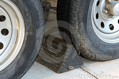Wheel chock and tires