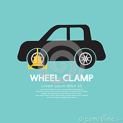 Free Wheel Clamp On Car Side View Stock Photo - 45284110
