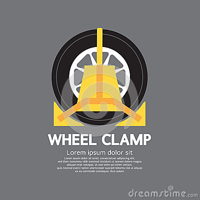 Free Wheel Clamp Side View Royalty Free Stock Photos - 45283838
