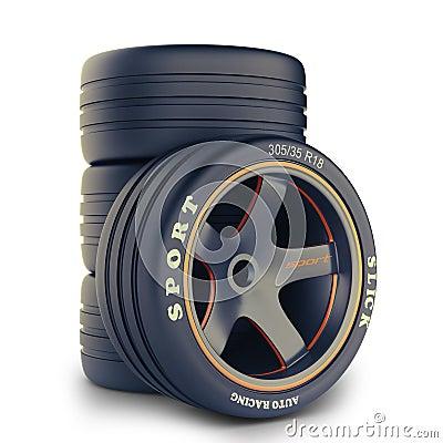 Wheel kit for a race car