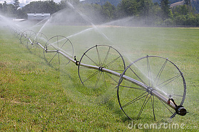 Wheel Line Irrigation System Stock Image Image 19201441