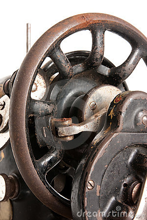 Free Wheel Of Vintage Sewing Machine Stock Images - 9054024