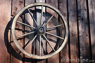 Wheel of an old carriage