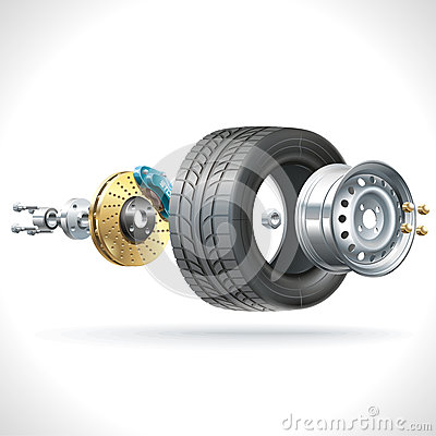 Free Wheel Parts Stock Images - 48066534