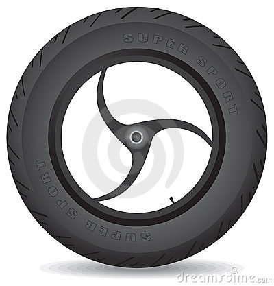 Wheel for a sports bike - vector.