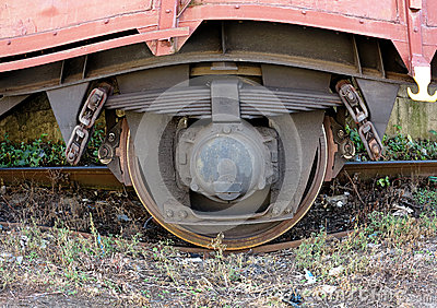 Wheel of the train