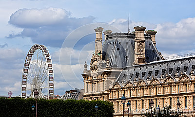Wheel at the Tuileries Garden of the Louvre, Paris