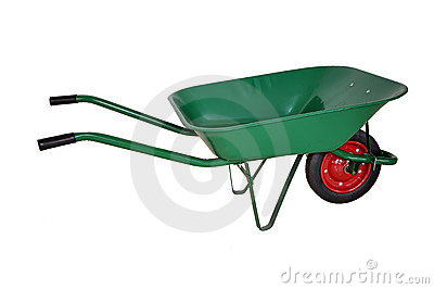 A wheelbarrow