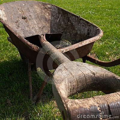 Free Wheelbarrow Closeup Stock Image - 749831