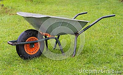 Wheelbarrow in the grass