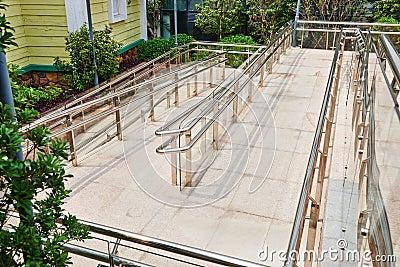 wheelchair access Stock Photo