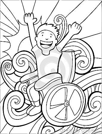 Wheelchair Adventurer - black and white