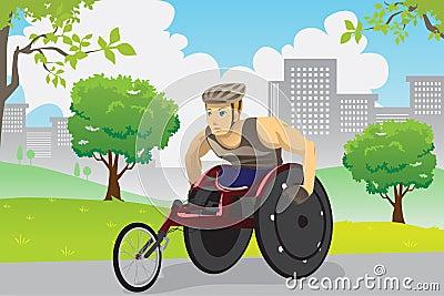 Wheelchair athlete