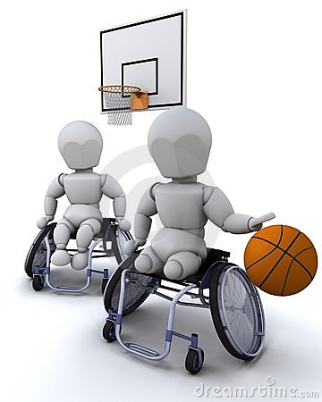 Wheelchair basket ball