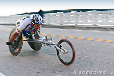 Wheelchair Competitor Editorial Stock Photo