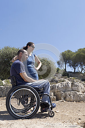 Wheelchair Couple Gaze