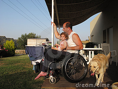 Wheelchair Dad and Baby