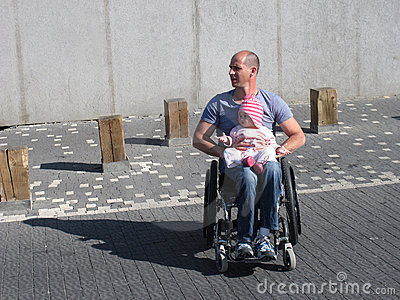 Wheelchair Dad and Daughter