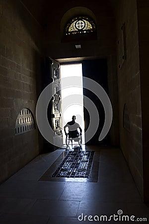 Wheelchair Door Silhouette