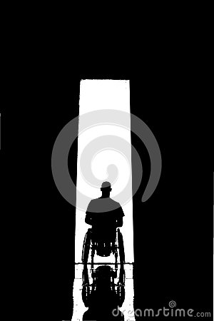 Wheelchair Door Silhouette