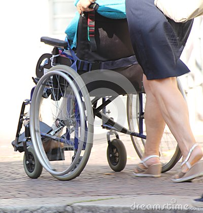 Wheelchair elderly