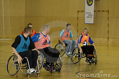 Wheelchair Handball Event 2008 Editorial Photography