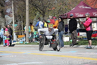 Wheelchair and Handcycle Racers participated in th Editorial Stock Photo