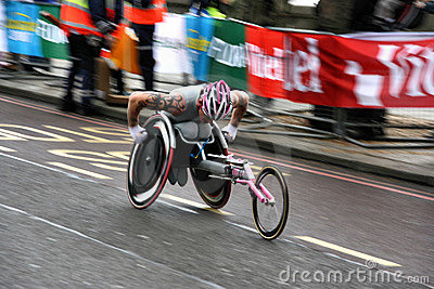 Wheelchair racer Editorial Stock Image