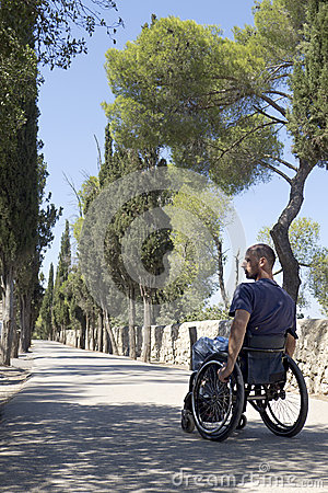 Wheelchair Road side