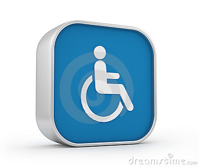 Wheelchair sign 3d