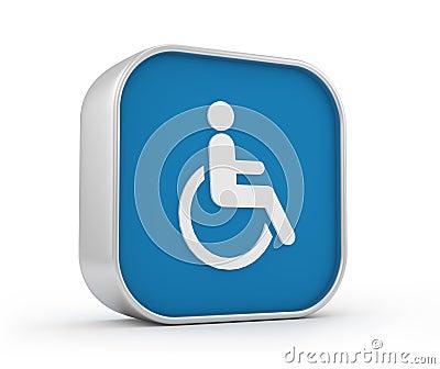Wheelchair sign 3d
