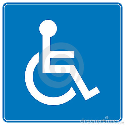Free Wheelchair Sign Stock Images - 9960654