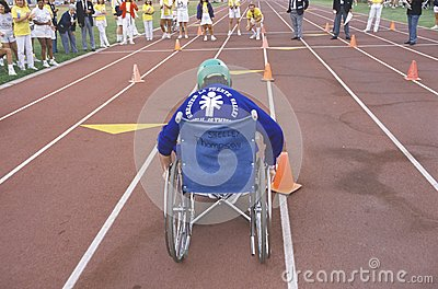 Wheelchair Special Olympics athlete Editorial Image