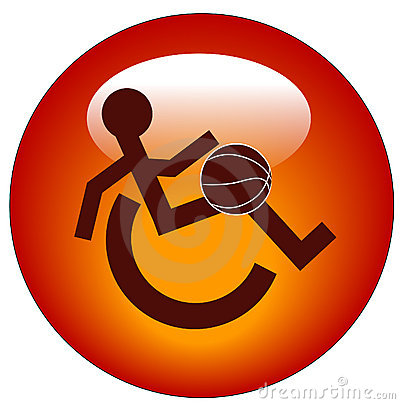 Wheelchair sports web button