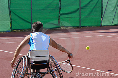 Wheelchair tennis player