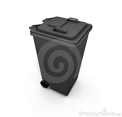 Wheelie bin Stock Photo