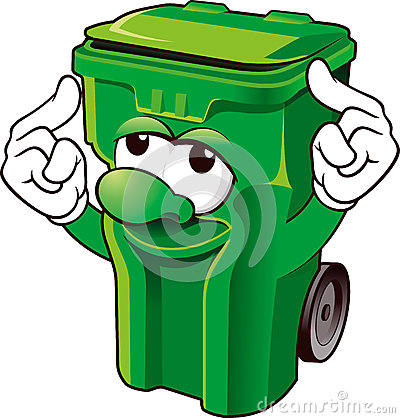 Free Wheelie Bin Royalty Free Stock Image - 37088876
