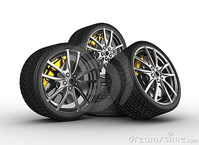 Wheels with alloy rims