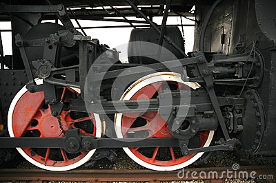 Wheels of the old locomotive