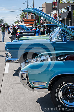 Wheels on Wyandoote classic car show Editorial Stock Photo