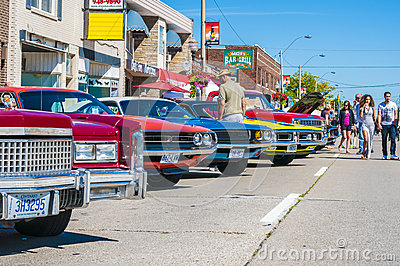 (wheels on wyandotte) Car show Editorial Image
