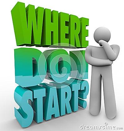 Free Where Do I Start Thinker Person Wondering Direction Plan Royalty Free Stock Photos - 34691268