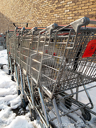 Free Where Shopping Carts Go To Die Stock Photos - 9673693