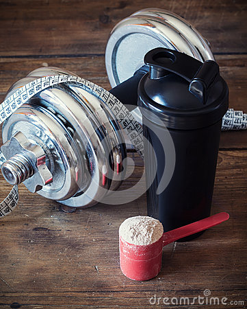Free Whey Protein Powder Royalty Free Stock Images - 92400409